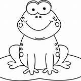 Clipart Frog Coloring Food Cartoon Transparent Webstockreview Bingo sketch template