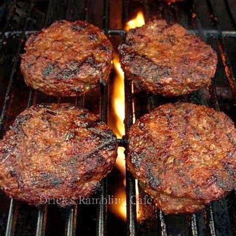grilled hamburger recipes award winning summertime tasting hamburger drick s rambling cafe