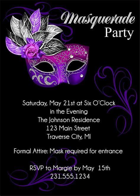 masquerade party invitation mardi gras party