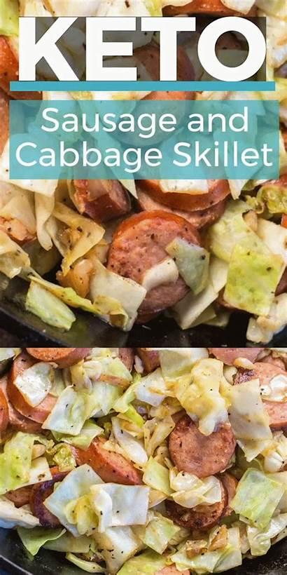 Recipes Keto Cabbage Sausage Easy Healthy Skillet