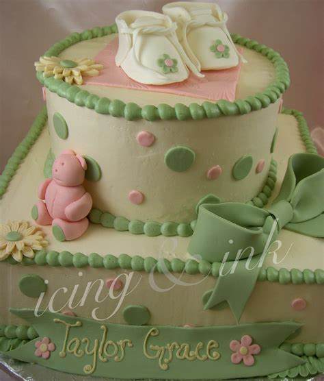 baby shower cake for baby shower cakes icing and ink blog