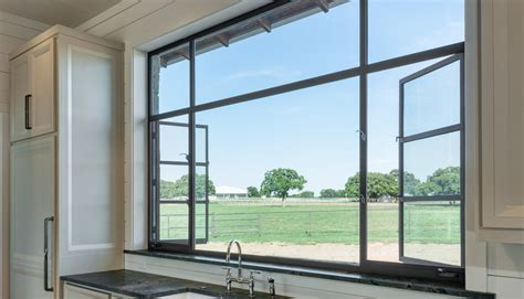 storefront interior  swing french casement window fixed transom