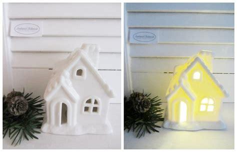 haus beleuchtet weihnachten led porezellan haus lichter haus licht beleuchtet laterne wei 223 deko weihnachten shabby