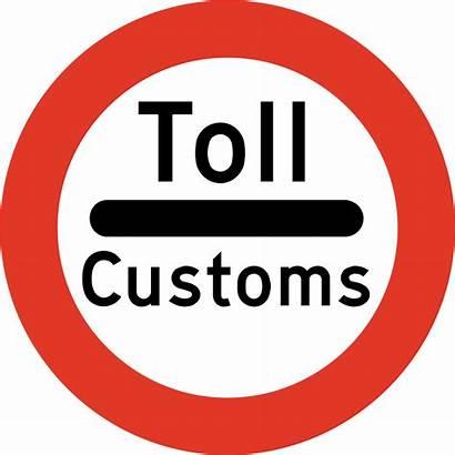 Customs Sign Norway Traffic Road Signs Norwegian