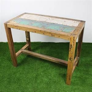 Table Haute 110 Cm : mercier carrelages table haute 140x70 teck recycl ~ Teatrodelosmanantiales.com Idées de Décoration