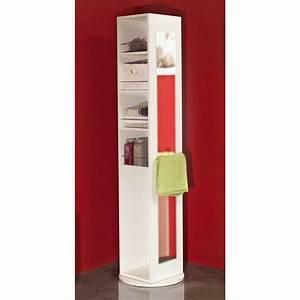 Meuble Salle De Bain Colonne : symbiosis colonne pivotante salle de bain 5 niches 1 miroir blanc armoire salle de bain ~ Teatrodelosmanantiales.com Idées de Décoration