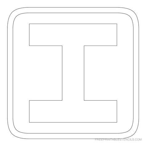 block letter i printable block letter stencils free printable stencils 43788