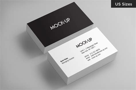 business card mockups  sizes print mockups