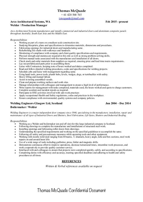 boilermaker resume professional union business