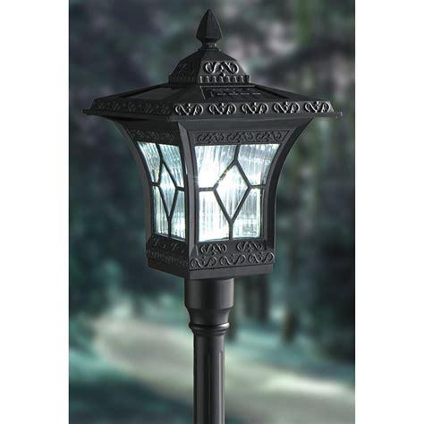 westinghouse aluminum solar lamp post black