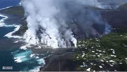Lava Volcano Hawaii Bay Kapoho Island Kilauea