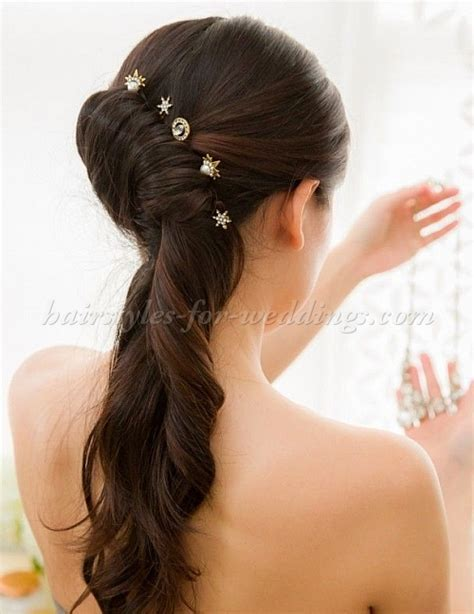 french twist wedding hairstyles   half updo with french