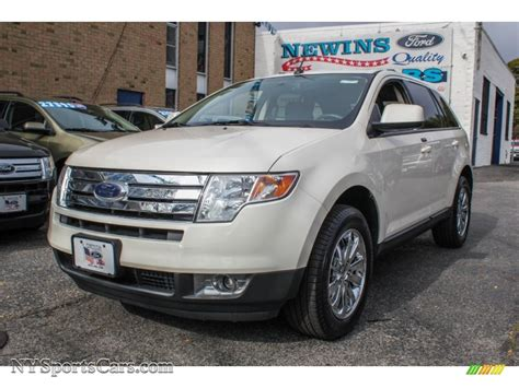 Newins Ford by 2008 Ford Edge Sel Awd In White Sand Tri Coat Metallic