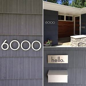 modern house numbers plaques modern exterior With exterior house letters