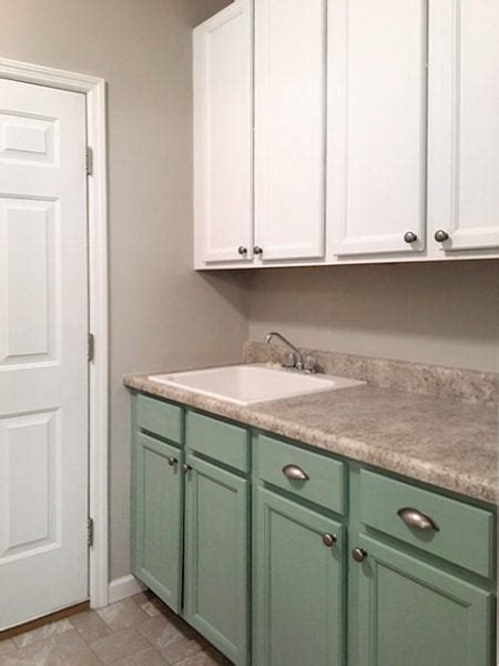 painted laundry room cabinets   nest