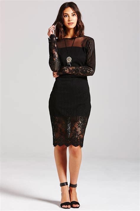 girls  film black lace  sleeve dress girls  film