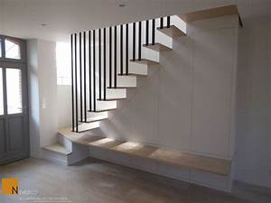 Garde Corps Sur Mesure : escalier sur mesure escalier contemporain garde corps ~ Melissatoandfro.com Idées de Décoration