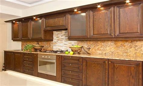 brown wooden kitchen cabinets designs  home design