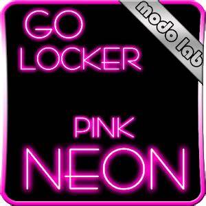 Pink Neon GO Locker theme for Android