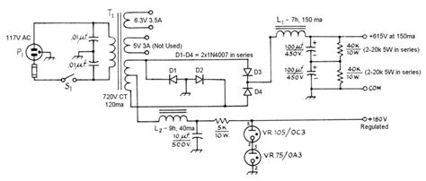 The Aav Amplifier Power Supply Schematic Diagrams