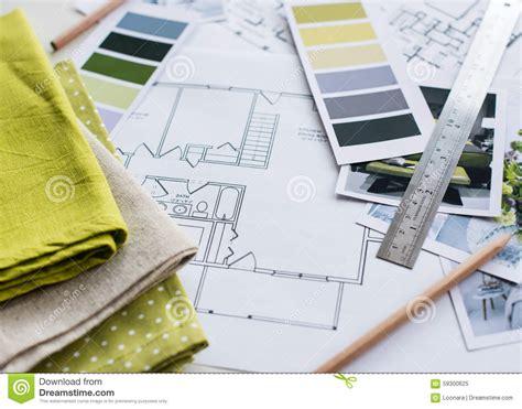 interior fabrics okc plan interior designers working table stock photo image 59300625