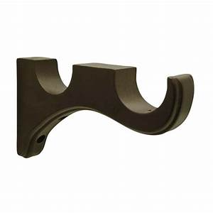 shop allen roth 2 pack mink wood double curtain rod With wooden curtain pole brackets