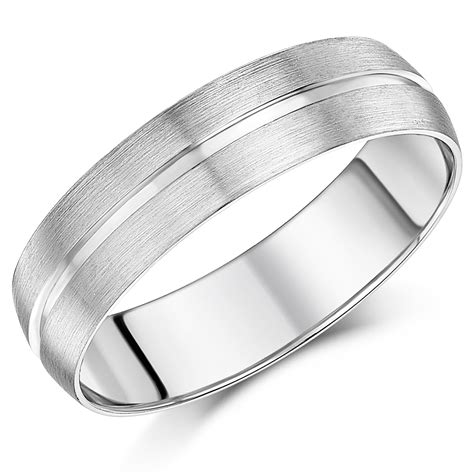 6mm men s patterned palladium wedding ring palladium 950 at elma uk jewellery