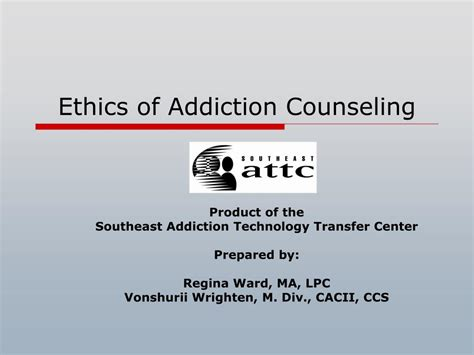ethics  addiction counseling powerpoint