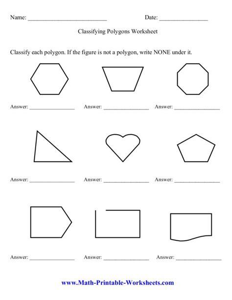 3rd grade math polygons worksheets geometry worksheets