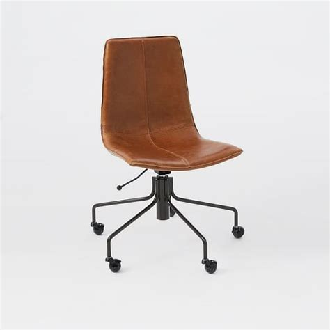 slope leather office chair west elm