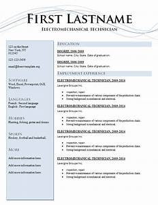 resume template 205 two pages version free cv template With free resume templates for pages