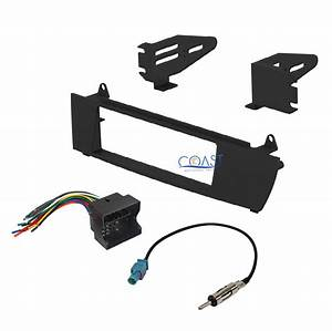 Car Radio Stereo Single Din Dash Kit Wire Harness Antenna