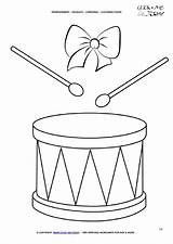 Coloring Drums Christmas Pages Today Xmas sketch template