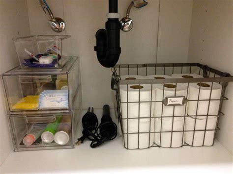 bathroom sink organized