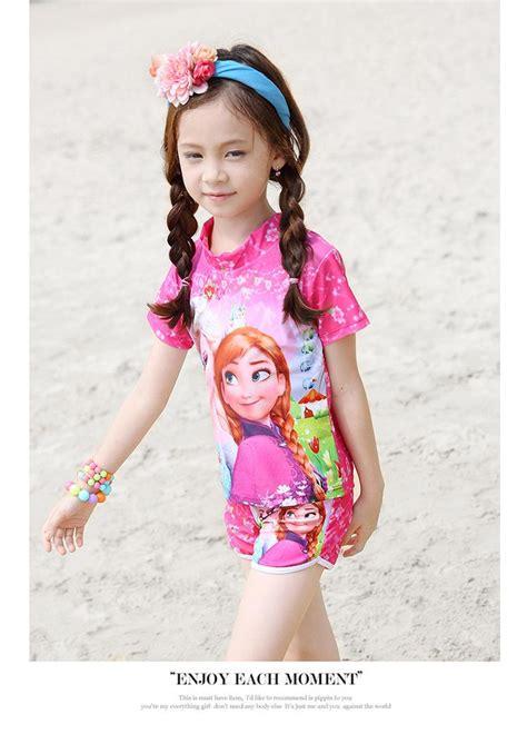 cartoon frozen princess baby girls swimwear