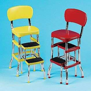 cosco retro kitchen stool with folding step new