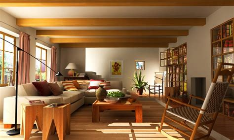 Grand Interior Asian Living Room With Attractive Furniture