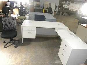 White Shaped Desk Make Your Own Standing Desk Cubicle