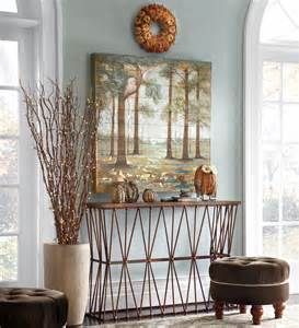 Dining Room Table Decorating Ideas For Fall by Autumn Foyer Decorating Ideas