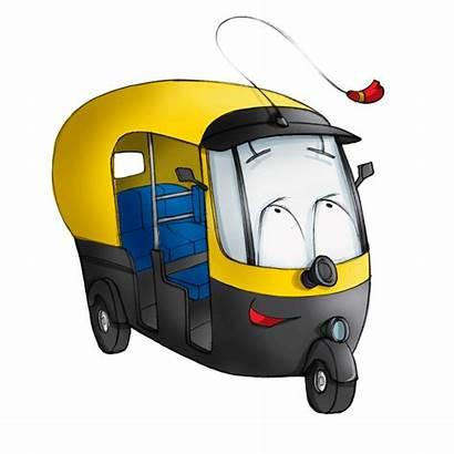 Clipart Rickshaw Indian Cartoon Transparent Characters Webstockreview