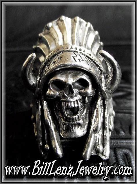 skull ring biker custom indian chief skull ring 39 chief buffalo