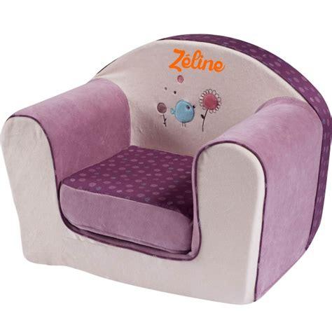 chaise en mousse pour bébé fauteuil enfant avec prénom birdy