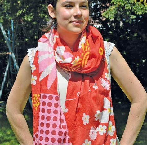 Schal Und Pareo »sakura« Rot, Weiß, Gelb