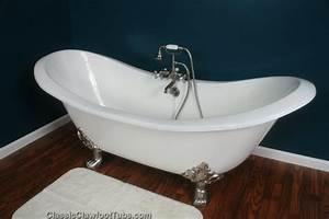 71quot Cast Iron Double Ended Slipper Clawfoot Tub WLions