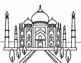 Taj Mahal Coloring Mosque Colouring Para Colorear Drawing India Coloringcrew Buildings Sketch Dibujo Wonders Printable Mundo Uma Drawings Sheets Disegno sketch template