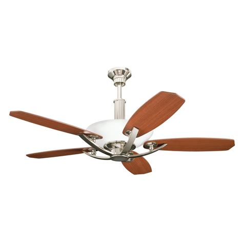 kichler six light polished nickel ceiling fan 300126pn