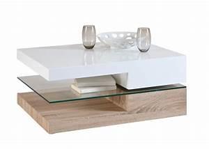 Table Basse Blanc Bois : table basse bois et blanc laqu id es de d coration int rieure french decor ~ Teatrodelosmanantiales.com Idées de Décoration