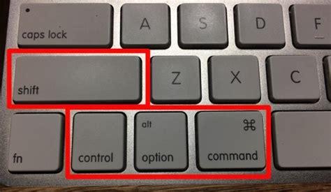 Mac の装飾キーの記号は、慣れないと分かりづらい