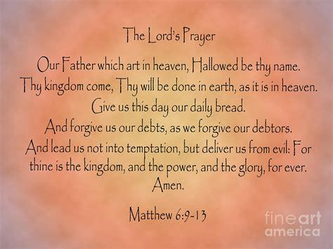 lords prayer matthew bible verse digital art  angela