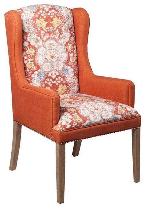 contemporary floral orange accent furnitureaccent chairs